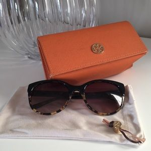 8cc0f00f54aa Tory Burch Accessories - Tory Burch Tortoise Cat Eye Sunglasses TY7095